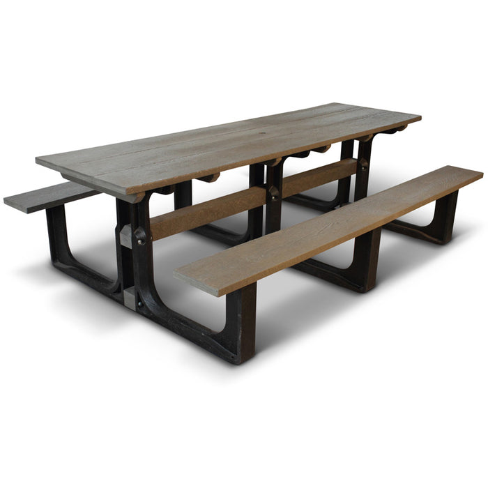 BrackenStyle 100% Recycled Large Grey Rectangular Picnic Table - Seats 10