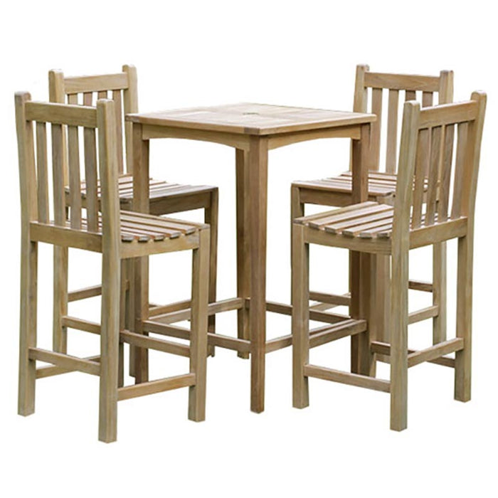 Brackenstyle Teak Warwick Bar Table Set - Seats 4