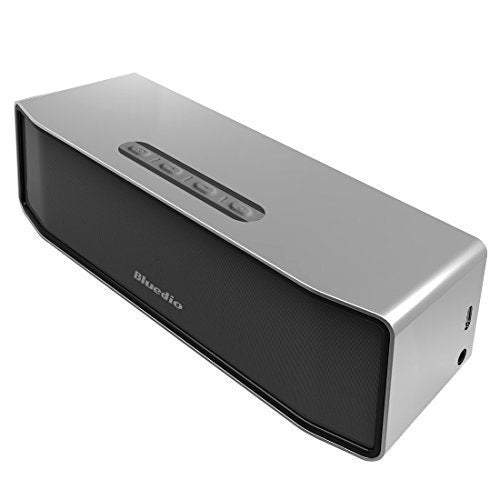Bluedio BS-2 Mini Bluetooth Portable Speaker - 3D Stereo Sound in Silver