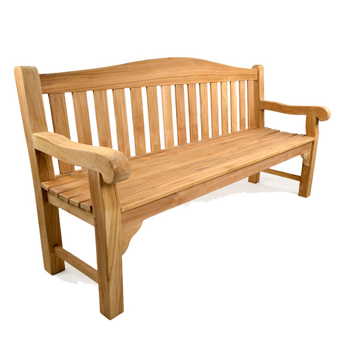 BrackenStyle Oxford Four Person Teak Bench