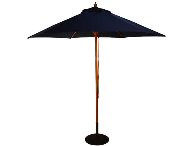 Brackenstyle Parasol Wood Pulley 2.5m Blue
