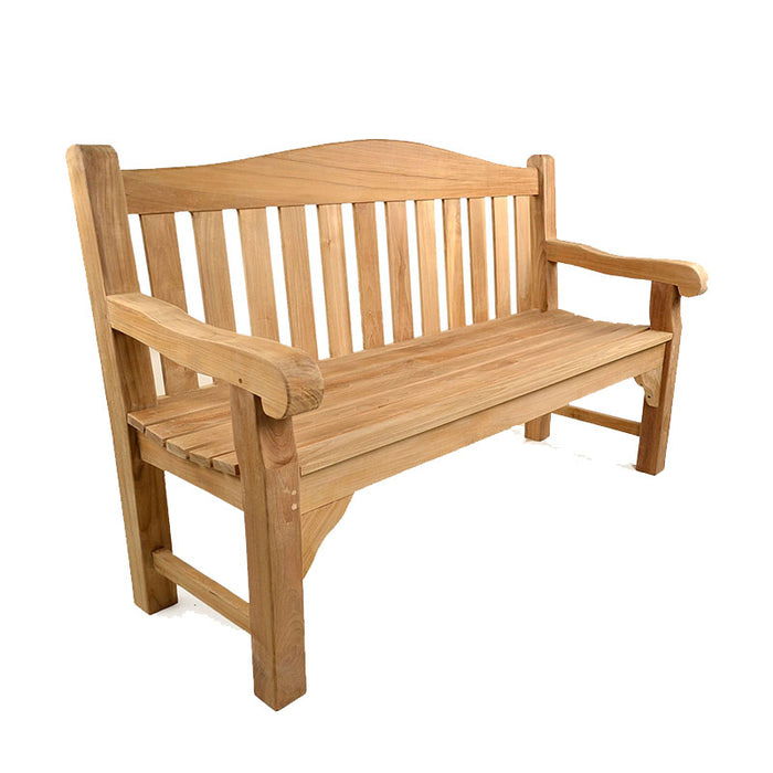 BrackenStyle Oxford Three Person Teak Bench