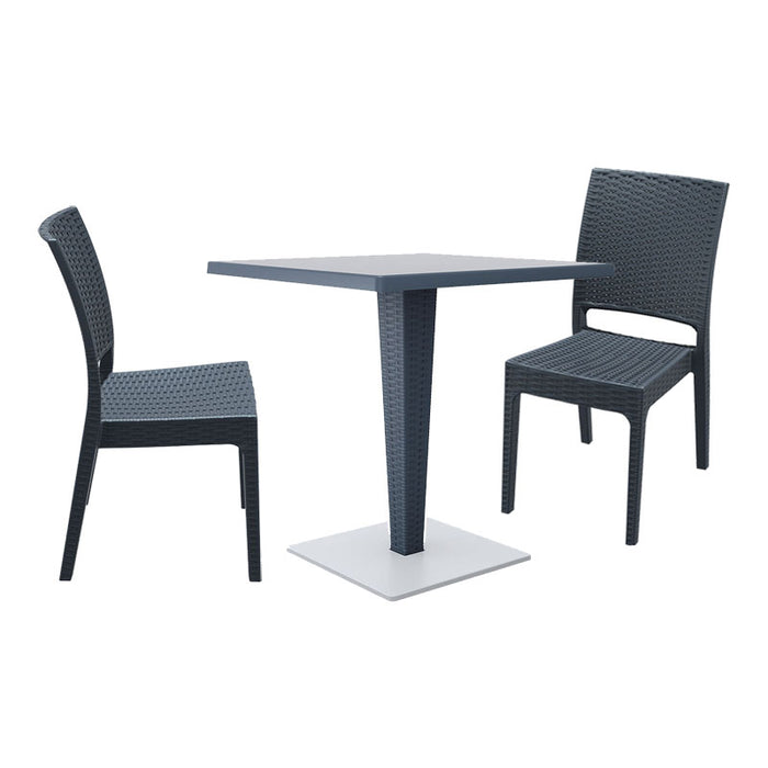 Brackenstyle Madrid Pedestal Table & 2 Side Chairs Set