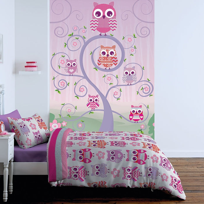 Catherine Lansfield Owl Kids Wall Art