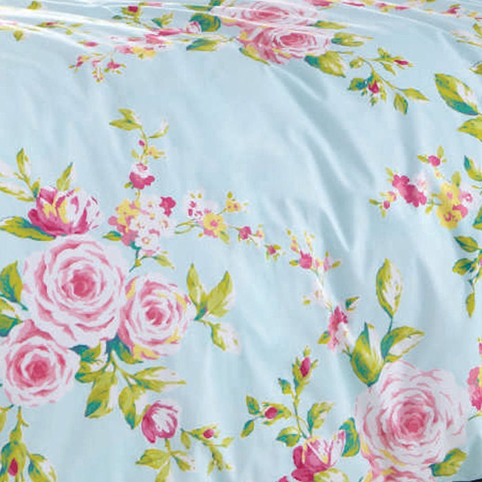 Catherine Lansfield Canterbury Blue Duvet Cover Set - Double