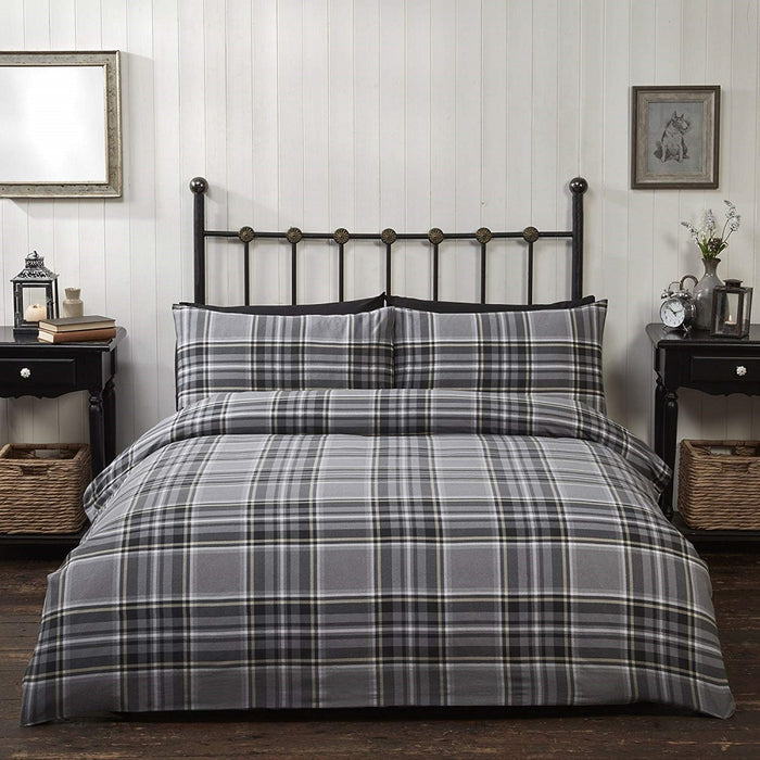 Rapport Campbell Brushed Cotton Duvet Cover Set