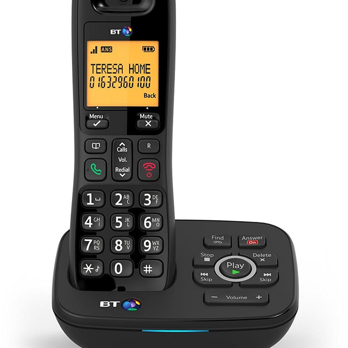 BT 1700 DECT Cordless Telephone Backlit Display Nuisance Call Blocker Answering Machine Single-Pack (Black)