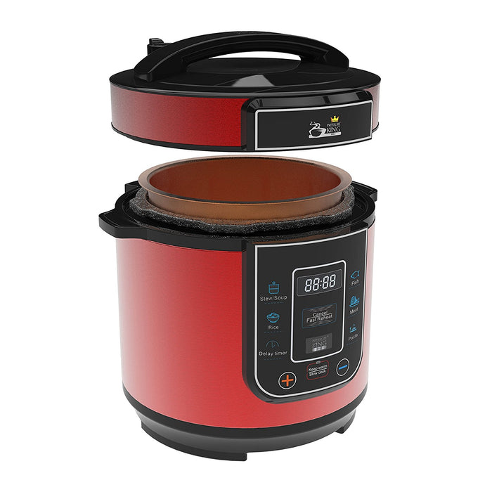 Pressure King Pro 3L Pressure Cooker - Red