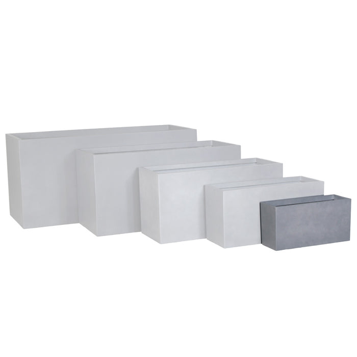 Brackenstyle Small Box FIBREstone Planter Pot - Slate Grey