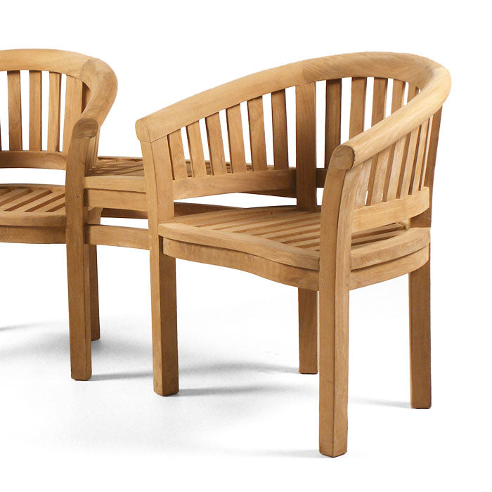 BrackenStyle Windsor Two Person Teak Companion Seat