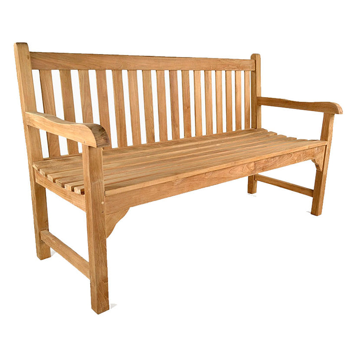 BrackenStyle Warwick Three Person Teak Bench