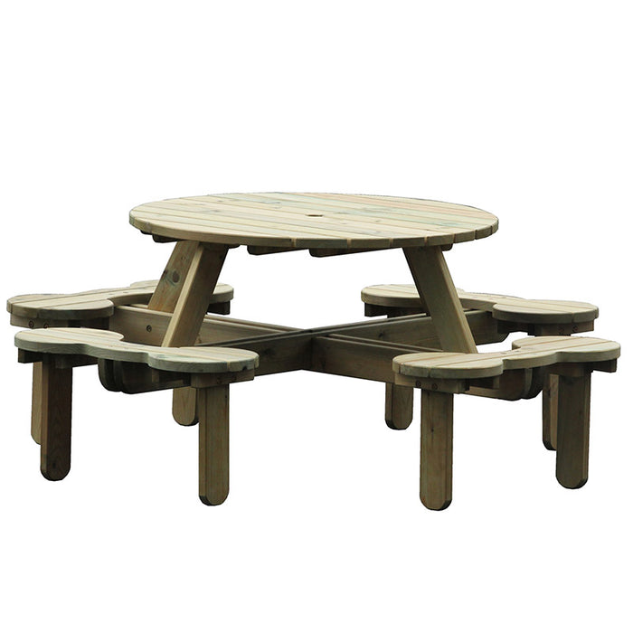 BrackenStyle Orbit 8 Seat Round Picnic Table