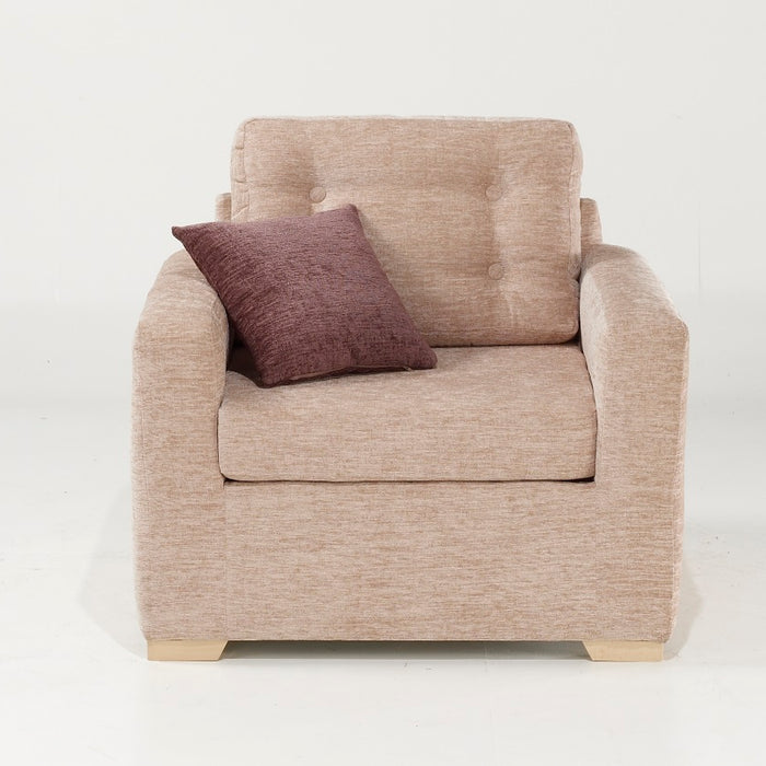 Button Back Chair - Champagne