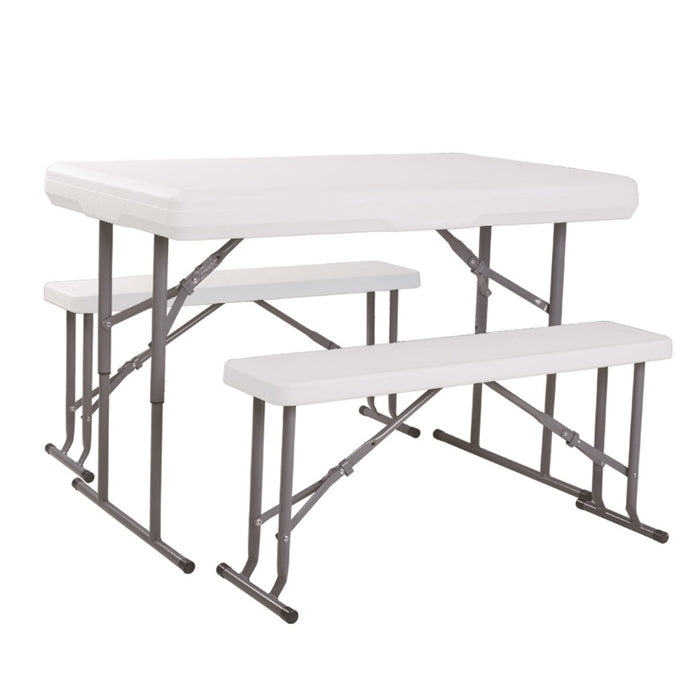 Brackenstyle Durafold Fold Away Picnic Table Set In White
