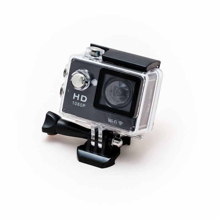 "Sports Cam HD Action Camera 1080p with 2.0"" Screen, Wi-Fi and Waterproof Case (30m) + 10 mountings and accessories"