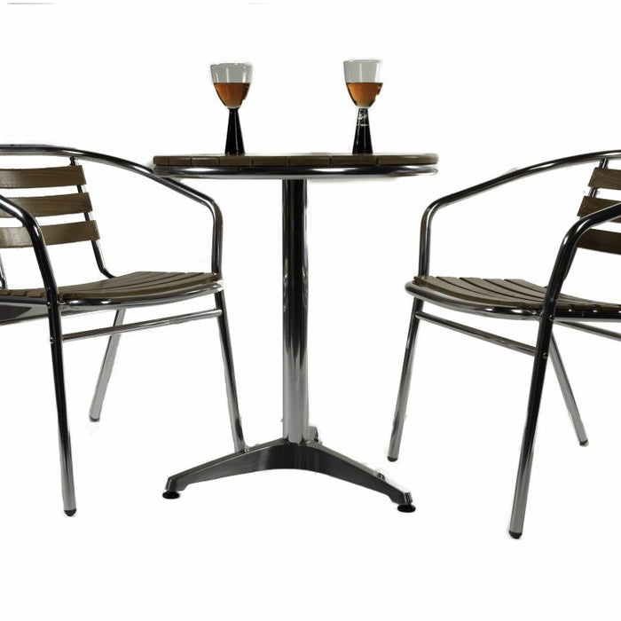 BrackenStyle Aluminium and Ash Dining Set - Seats 2