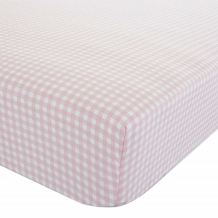 Catherine Lansfield Gingham Double Fitted Sheet, Multi