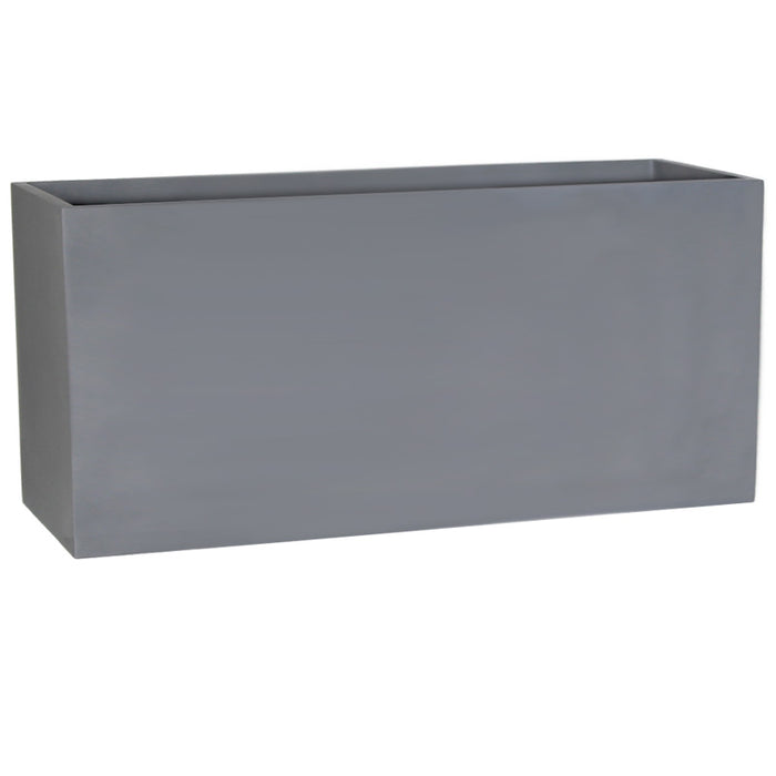 Brackenstyle Light FIBREstone Pot Rectangle Slate Grey - XXLarge