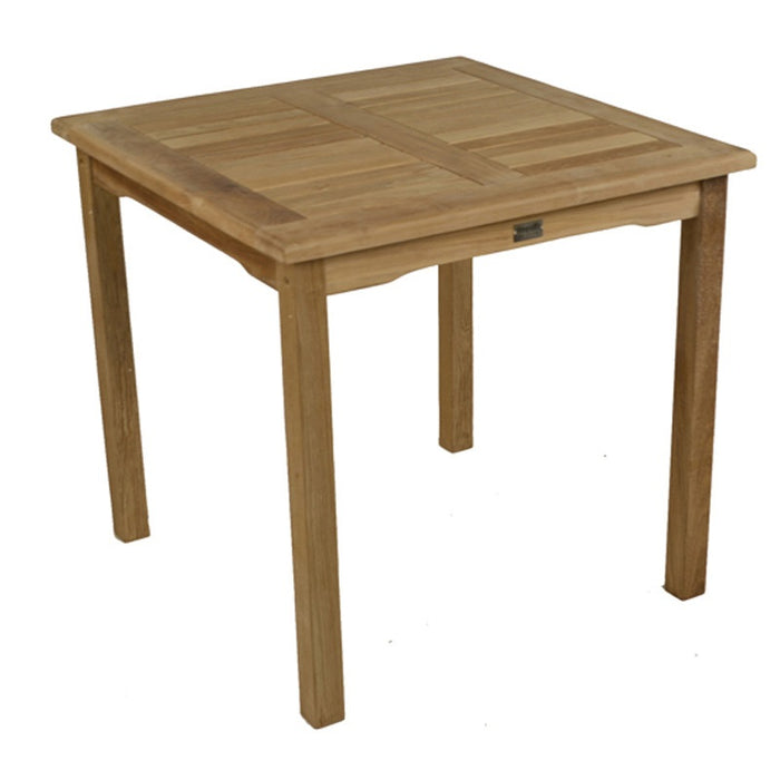 BrackenStyle Square Teak Bistro Table - Brown