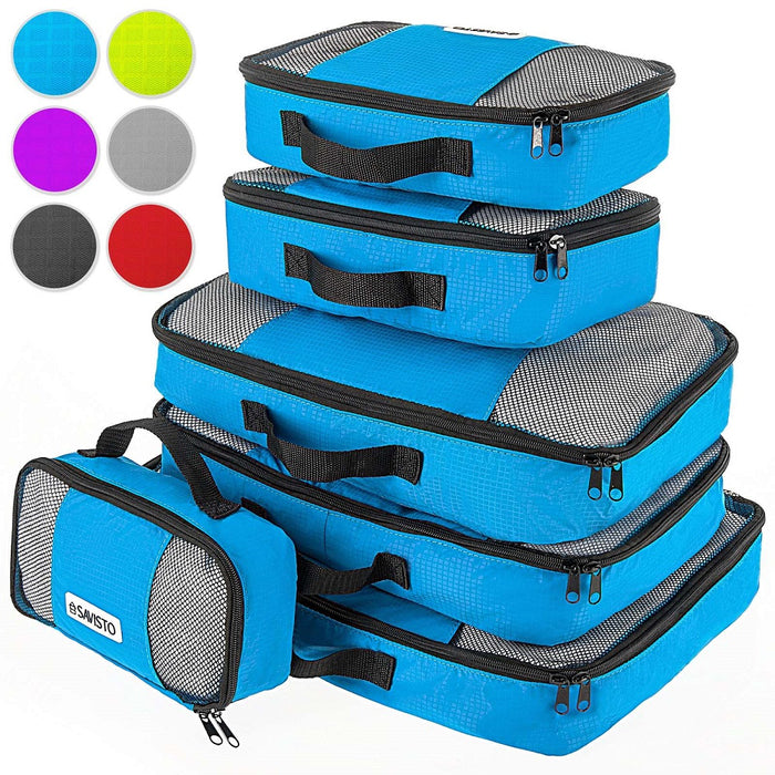 Savisto Packing Cubes Suitcase Organiser, 6-Piece Set