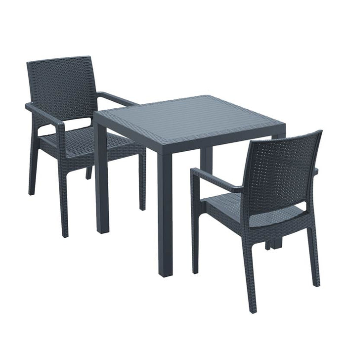 Brackenstyle Madrid Table and 2 Arm Chairs Set