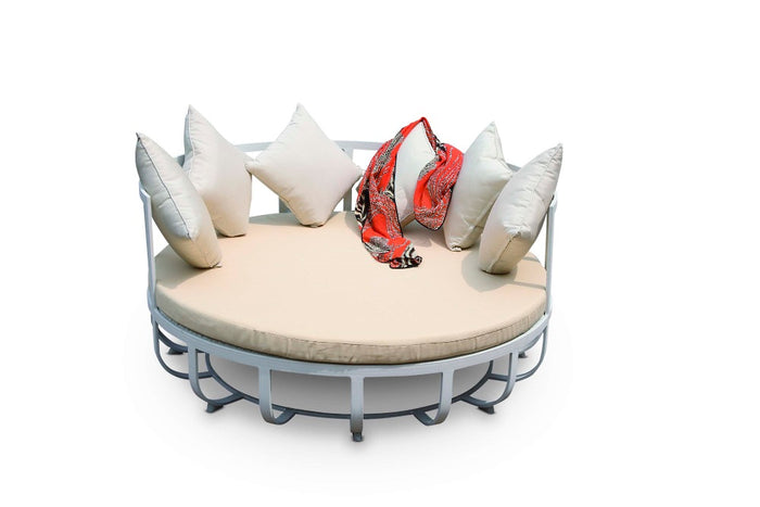 BrackenStyle Oasis Round Day Bed - White