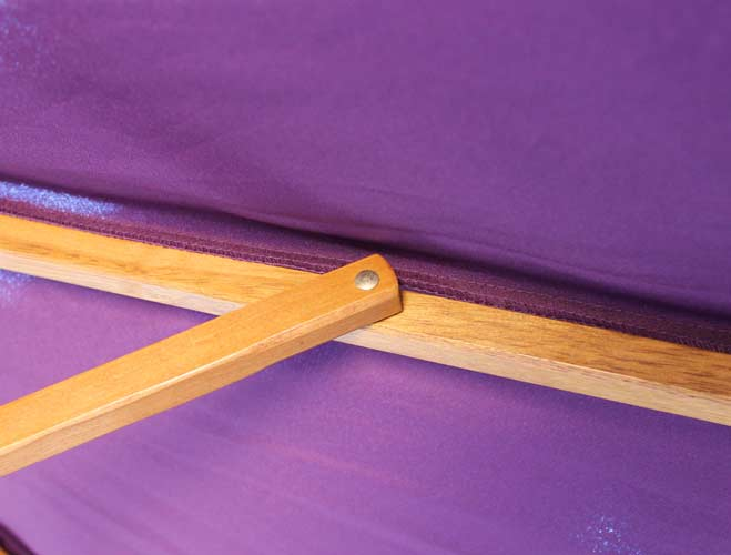 Brackenstyle Parasol Wood Pulley 2.5m Purple