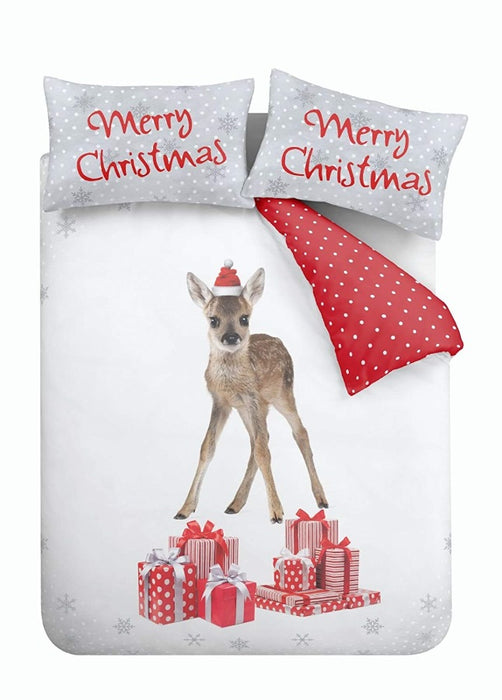 Catherine Lansfield Christmas Deer Duvet Cover Set