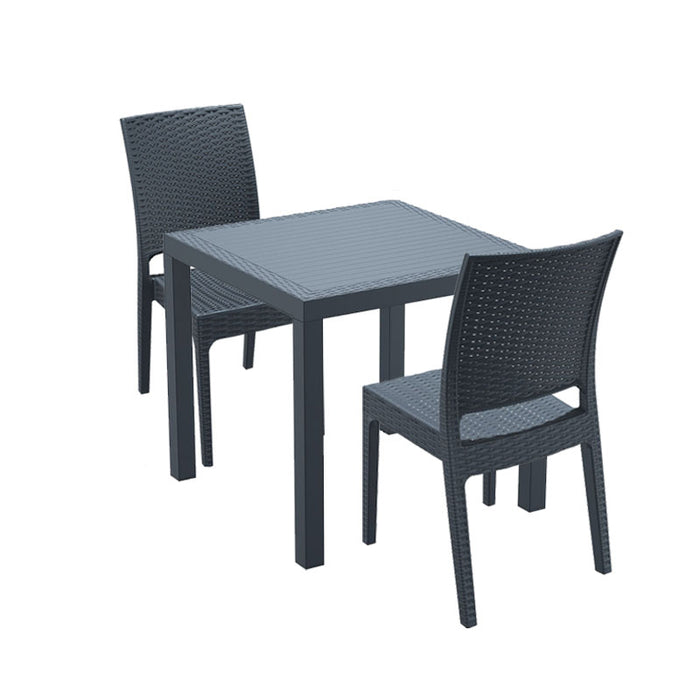 Brackenstyle Madrid Table and 2 Side Chairs Set