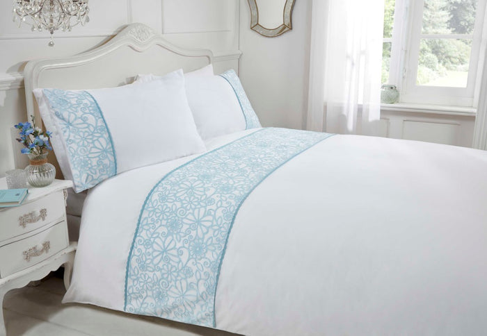 Rapport Butterfly Embroidered Duvet Cover Set