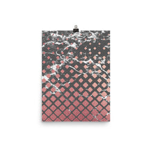 Grey and pink marble cubes print