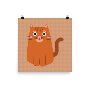 Ginger cat print
