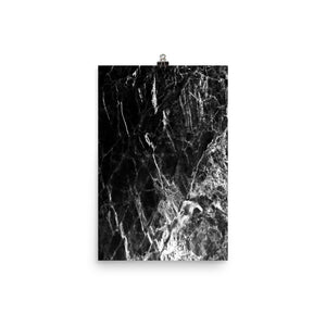 Classic marble black and grey print