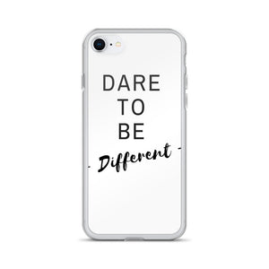 Dare to be different white iPhone case - Pretty Ventura