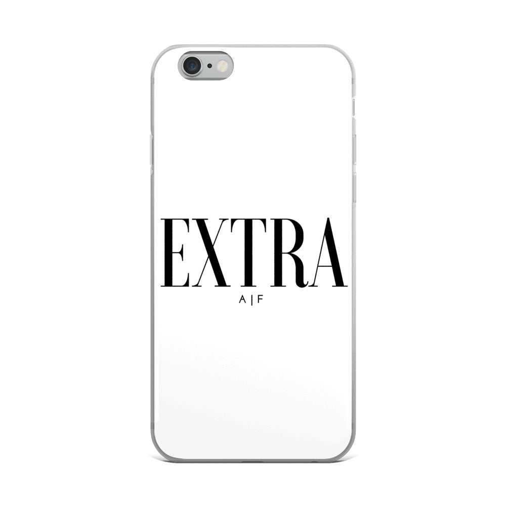 Extra A|F white iPhone Case