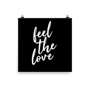 Feel the love black print
