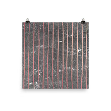 Grey and pink marble vertical stripe print