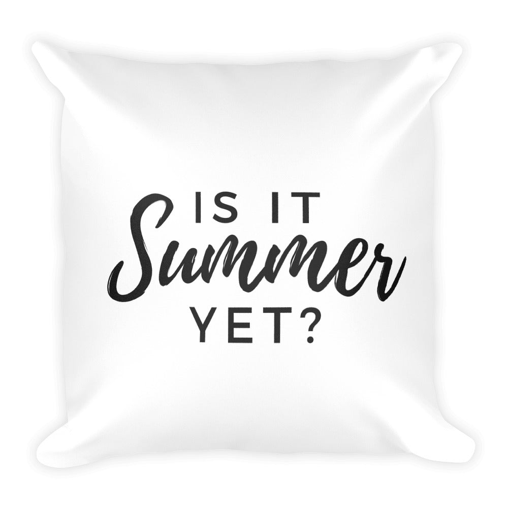 Is it summer yet? white cushion - Pretty Ventura