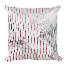Grey and pink marble waves cushion