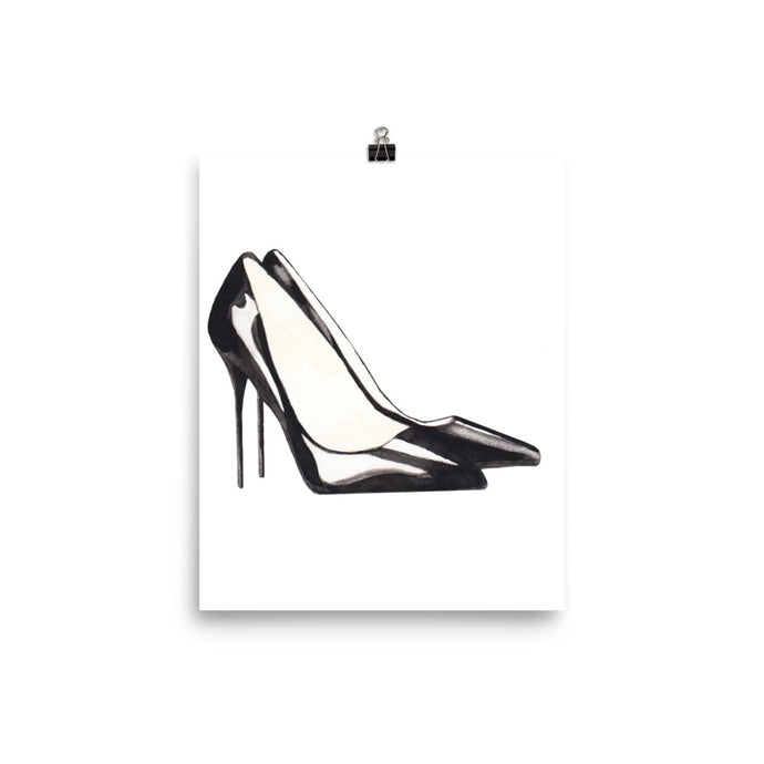Stiletto watercolour print