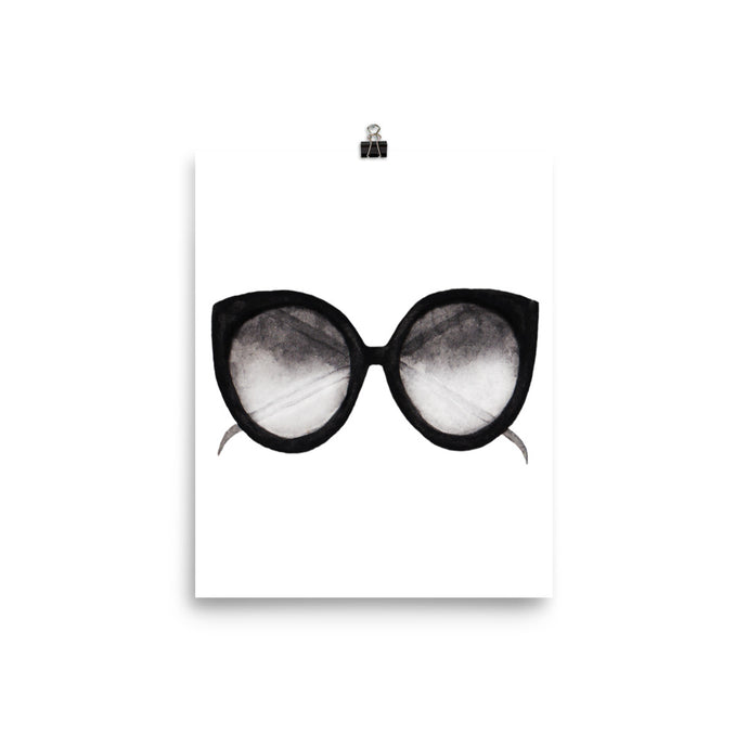 Sunglasses watercolour print