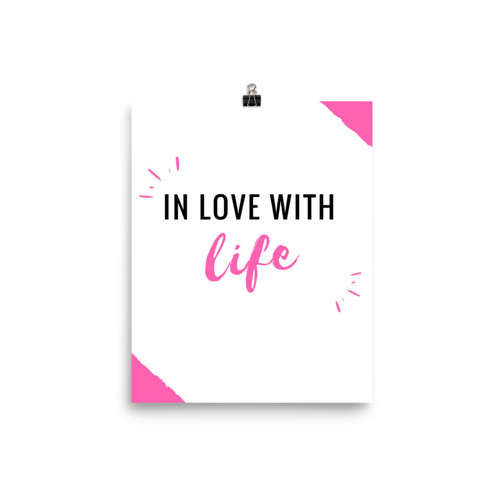 In love with life print - Pretty Ventura