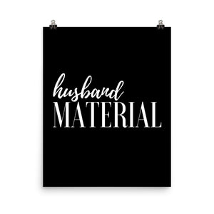 Husband material back print