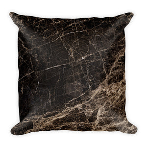 Classic marble black and gold cushion