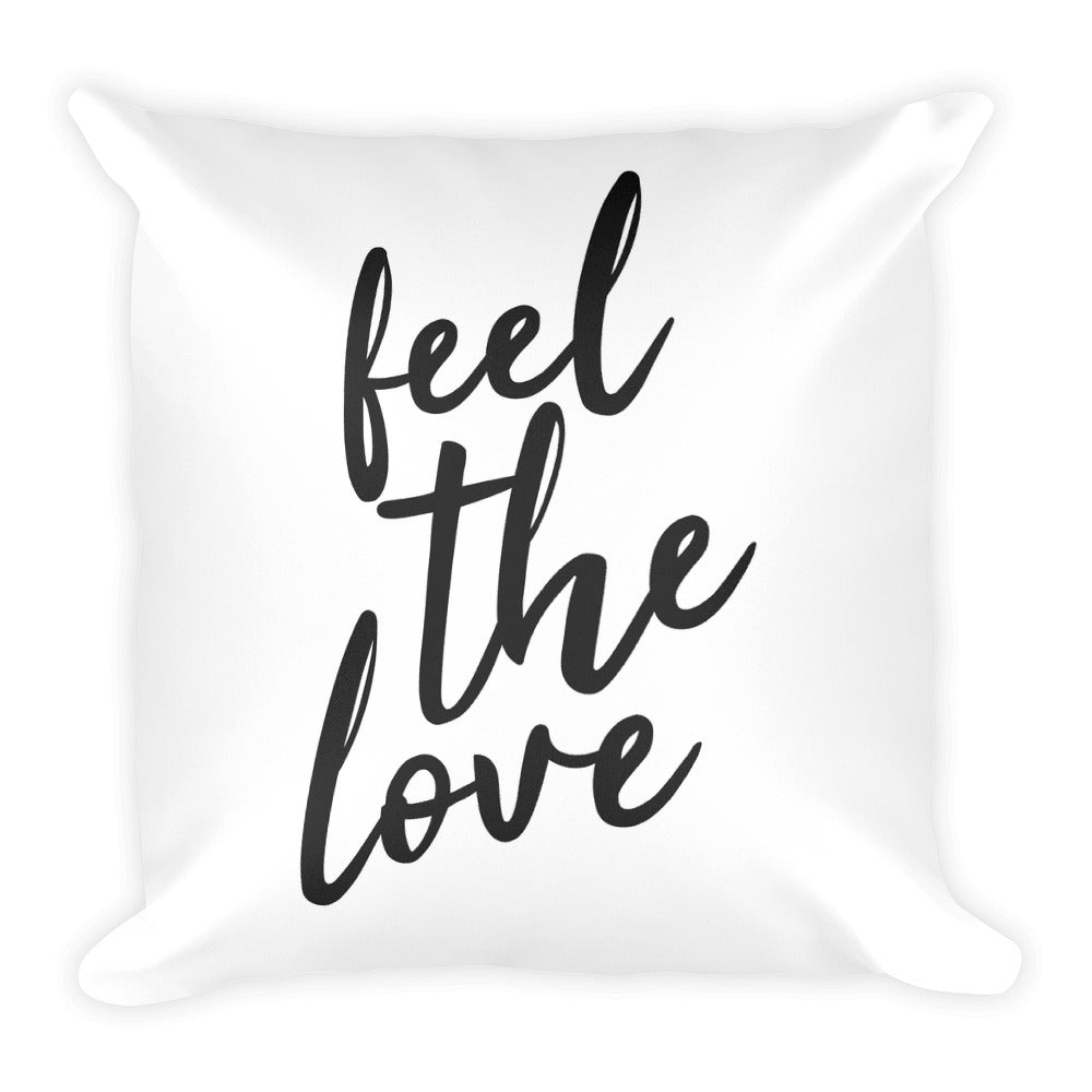 Feel the love white cushion