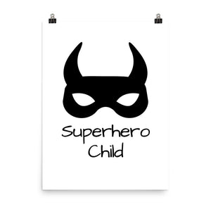 Superhero child print