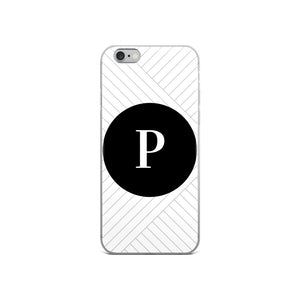 Santorini Collection P iPhone case