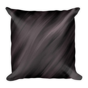 Black satin cushion