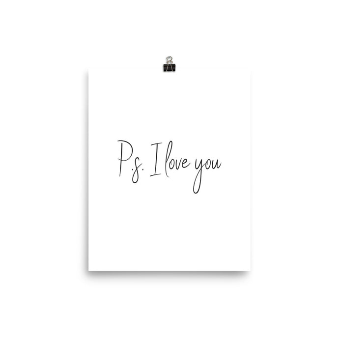 PS: I love you white print
