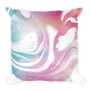 Experimental marble pastel mix cushion